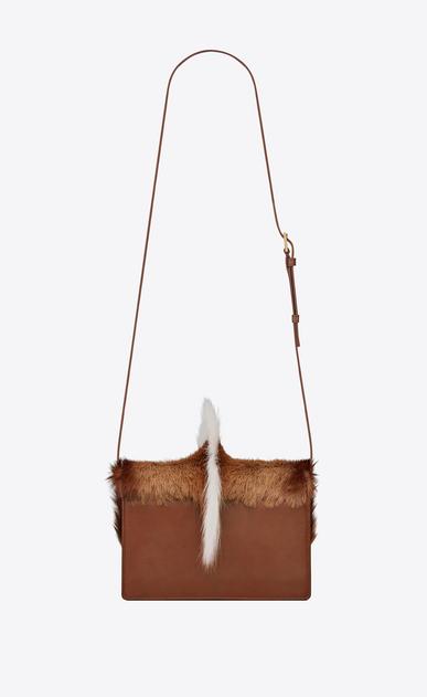 SAINT LAURENT Bellechasse Woman medium bellechasse saint laurent satchel in natural in springbok leather b_V4