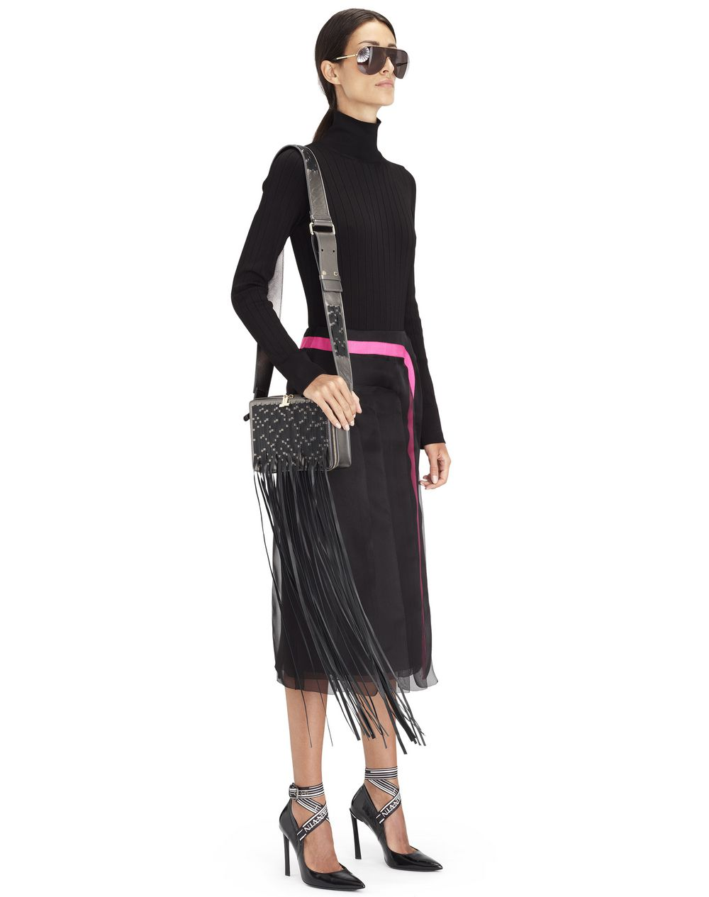 FRINGE TOFFEE BAG  - Lanvin