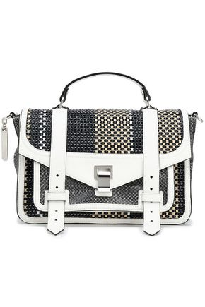 PROENZA SCHOULER Leather-trimmed woven shoulder bag