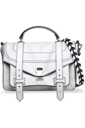 PROENZA SCHOULER PS1 Medium glossed textured-leather shoulder bag