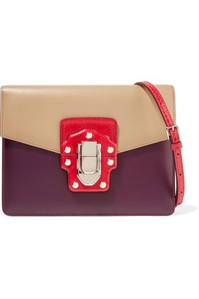 DOLCE & GABBANA Color-block ayers and leather shoulder bag