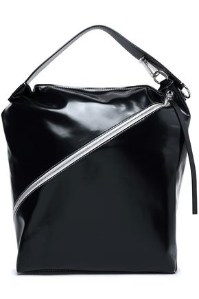 PROENZA SCHOULER Zip-detailed patent-leather shoulder bag