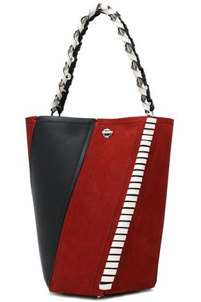 PROENZA SCHOULER Whipstitch-trimmed leather and suede shoulder bag