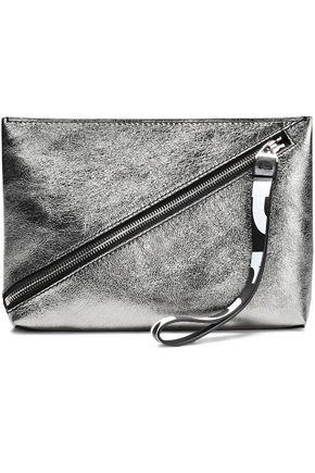 PROENZA SCHOULER Metallic textured-leather clutch