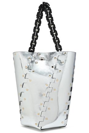 PROENZA SCHOULER Studded metallic leather bucket bag