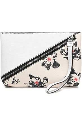 PROENZA SCHOULER Floral-print textured-leather clutch