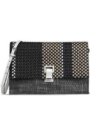 PROENZA SCHOULER Lunch leather-paneled woven shoulder bag
