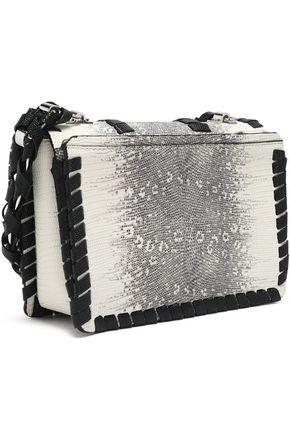 PROENZA SCHOULER Whipstitch-trimmed lizard-effect leather shoulder bag
