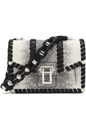 PROENZA SCHOULER Whipstitch-trimmed lizard-effect leather shoulder bag