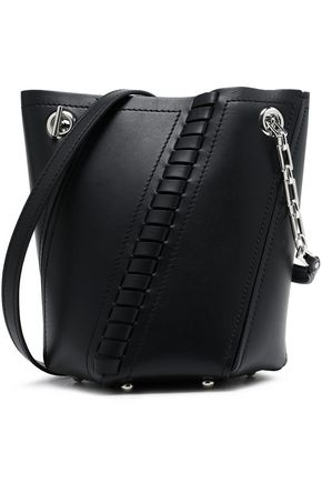 Proenza Schouler Whipsch Trimmed Leather Bucket Bag