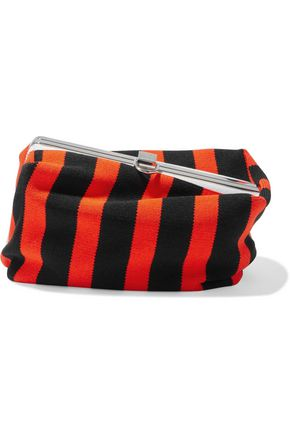 PROENZA SCHOULER Asymmetrical Frame striped intarsia-knit clutch