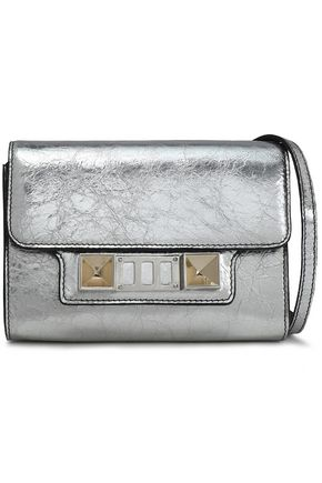 PROENZA SCHOULER PS11 metallic cracked-leather shoulder bag