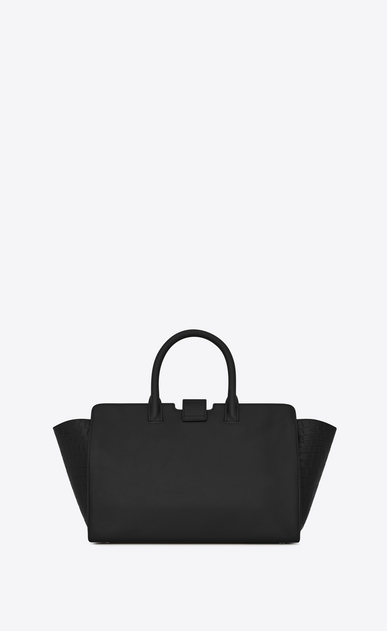 SAINT LAURENT MONOGRAMME TOTE Woman downtown small cabas in smooth and crocodile embossed leather b_V4