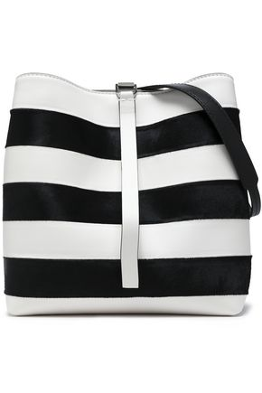 PROENZA SCHOULER Frame striped leather and calf hair shoulder bag
