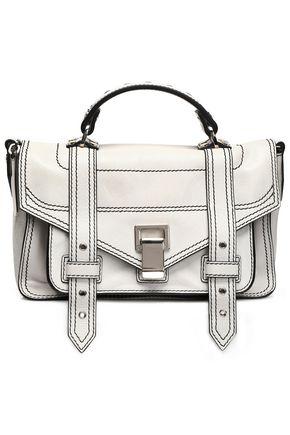 PROENZA SCHOULER PS1 glossed-leather shoulder bag