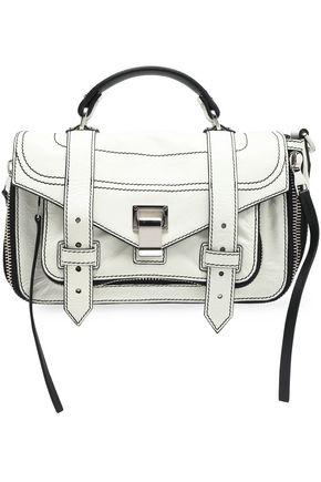 PROENZA SCHOULER PS1 cracked-leather shoulder bag