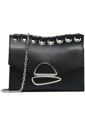 PROENZA SCHOULER Whipstitch-trimmed embellished textured-leather shoulder bag