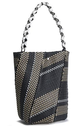 PROENZA SCHOULER Leather-trimmed woven bucket bag