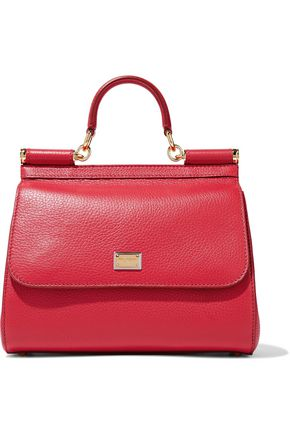 DOLCE & GABBANA Sicily pebbled-leather shoulder bag