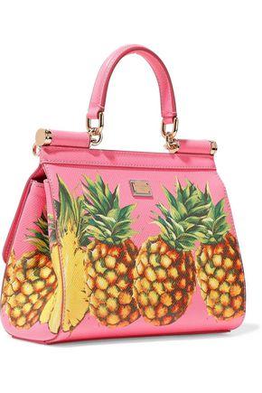 DOLCE & GABBANA Printed textured-leather shoulder bag