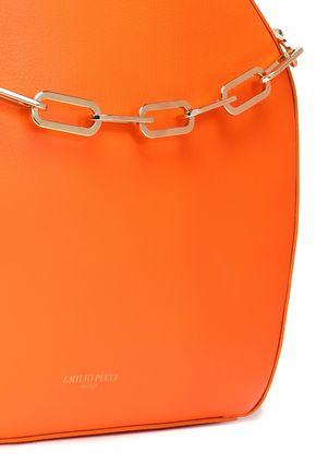 EMILIO PUCCI Chain-trimmed leather tote