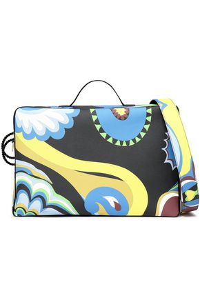EMILIO PUCCI Printed leather suitcase