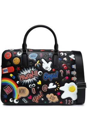 ANYA HINDMARCH Vere Barrel appliquéd leather tote