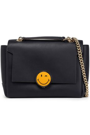 ANYA HINDMARCH Smiley Bathurst leather shoulder bag