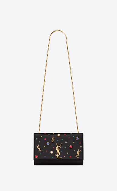 SAINT LAURENT MONOGRAM KATE Woman Kate Medium in leather and multicolor charms a_V4