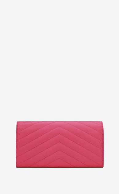 SAINT LAURENT Monogram Matelassé Woman Monogram large flap wallet in grain de poudre embossed leather b_V4