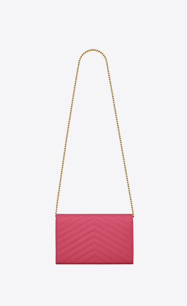 SAINT LAURENT Mini bags Matelassé Damen Portemonnaie aus pinkfarbenem Leder b_V4