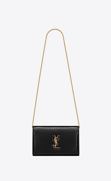 SAINT LAURENT ミニバッグ モノグラム レディース Monogram chain wallet in patent leather a_V4