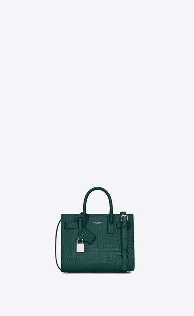 SAINT LAURENT Nano Sac de Jour レディース classic sac de jour nano in embossed crocodile shiny leather a_V4