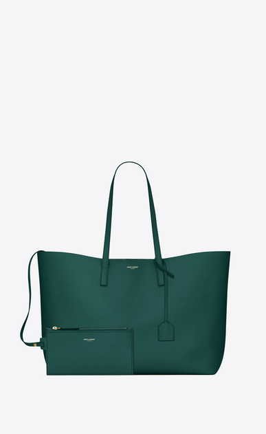 SAINT LAURENT Shopping Saint Laurent E/O Femme shopping bag saint laurent E/W en cuir souple b_V4