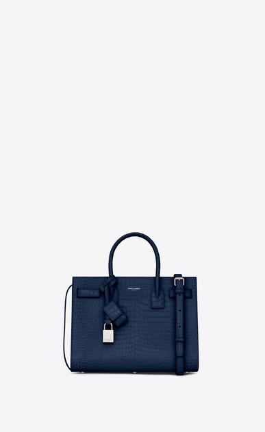 SAINT LAURENT Sac De Jour Small Woman classic sac de jour baby in embossed crocodile shiny leather a_V4