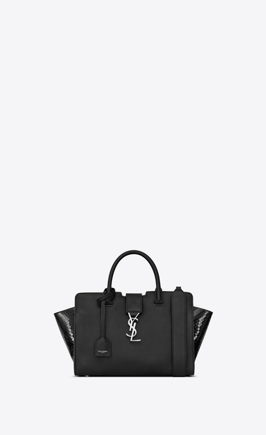 SAINT LAURENT ワイ・ライン・ミニ レディース downtown baby cabas in smooth and python leather a_V4