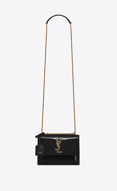 SAINT LAURENT Sunset Woman Sunset small in patent leather a_V4