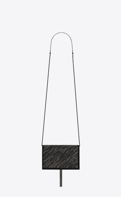 SAINT LAURENT Mini sacs Kate Femme Kate chain wallet avec pompon en velours orné de clous b_V4