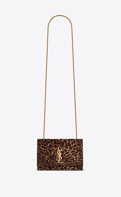Kleine KATE Tasche aus Velours mit Leopardentupfen