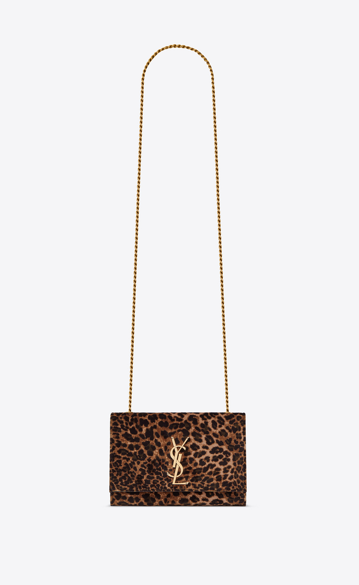 KATE SMALL IN LEOPARD PRINTED VELOURS