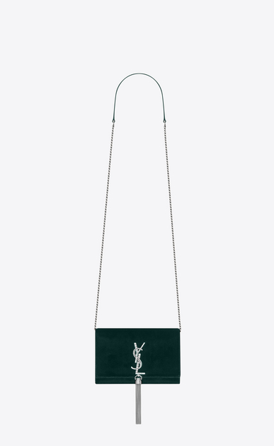 SAINT LAURENT Mini sacs Kate Femme Kate chain wallet avec pompon en velours orné de strass a_V4