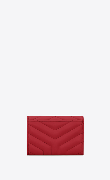 "SAINT LAURENT Monogram Matelassé Woman Loulou small envelope wallet in matelassé ""y"" leather b_V4"