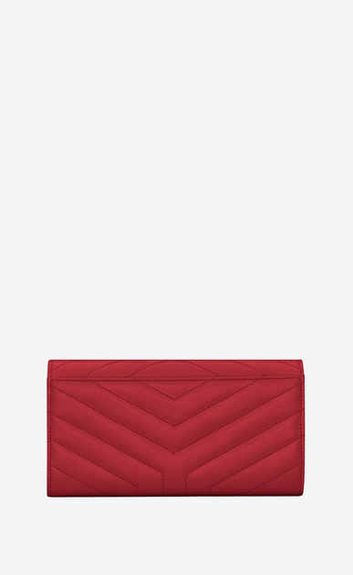 "SAINT LAURENT Monogram Matelassé Woman Loulou large flap wallet in matelassé ""y"" leather b_V4"