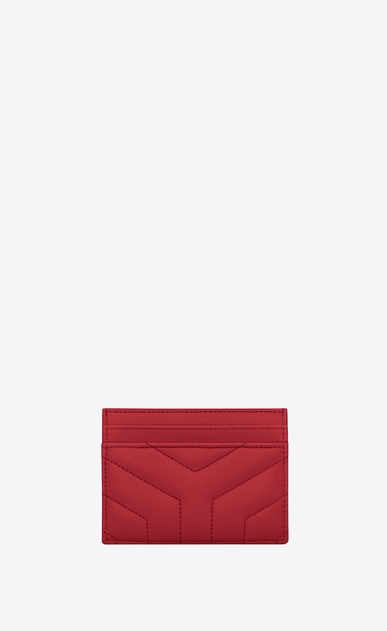 "SAINT LAURENT Monogram Matelassé Woman Loulou card case in matelassé ""y"" leather"" b_V4"