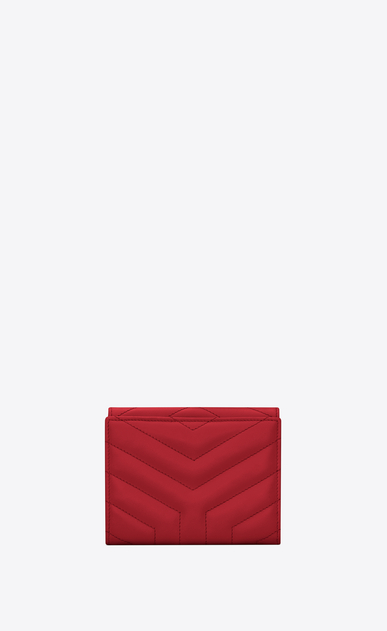 "SAINT LAURENT Loulou SLG Woman Loulou compact wallet in matelassé ""y"" leather b_V4"
