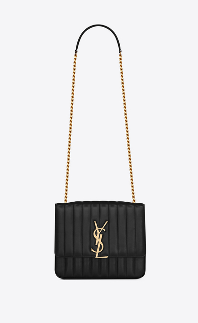 SAINT LAURENT Vicky Woman vicky large in matelassé lambskin a_V4
