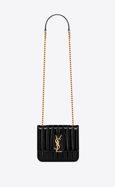 SAINT LAURENT Vicky Woman vicky medium in matelassé patent leather a_V4