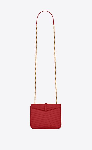 SAINT LAURENT Sulpice Damen SULPICE kleine Tasche aus rotem Leder mit Steppnähten b_V4
