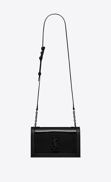 SAINT LAURENT Book bag Damen BOOK BAG aus schwarzem Lackleder – E-Shop-Exklusivität a_V4