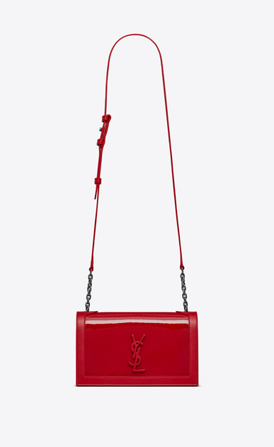 SAINT LAURENT Book bag Woman BOOK BAG in patent leather a_V4